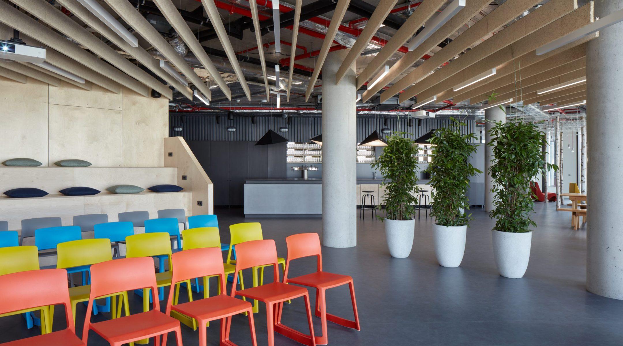 Eventový prostor v kancelářích pro Trask Solutions