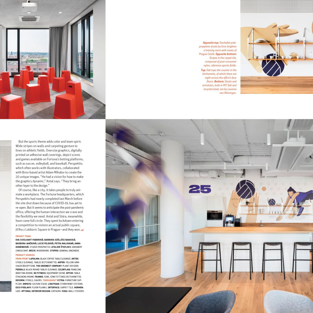 Kanceláře Fortuna Entertainment Group v magazine Interior Design